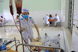 bài học truyền máu của học sinh điều dưỡng