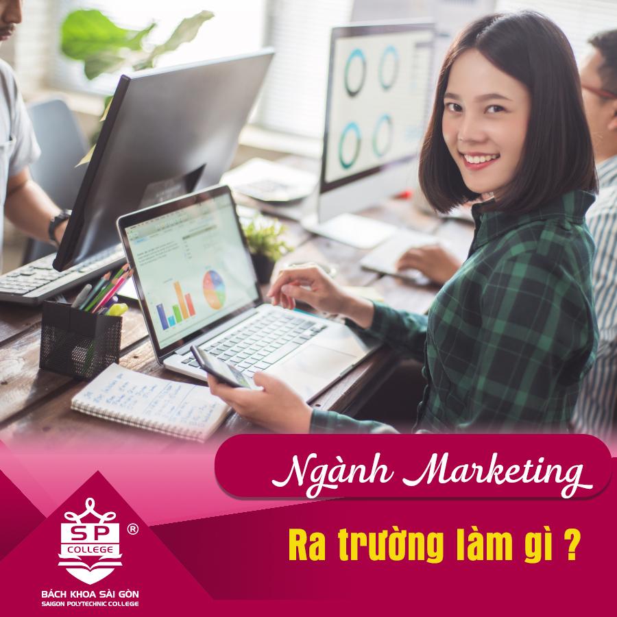 nhiều vị trí công việc sau khi tốt nghiệp chuyên ngành marketing