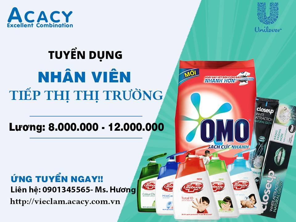 Unilever tuyển nhân viên tiếp thị thị trường (sale) tại TPHCM